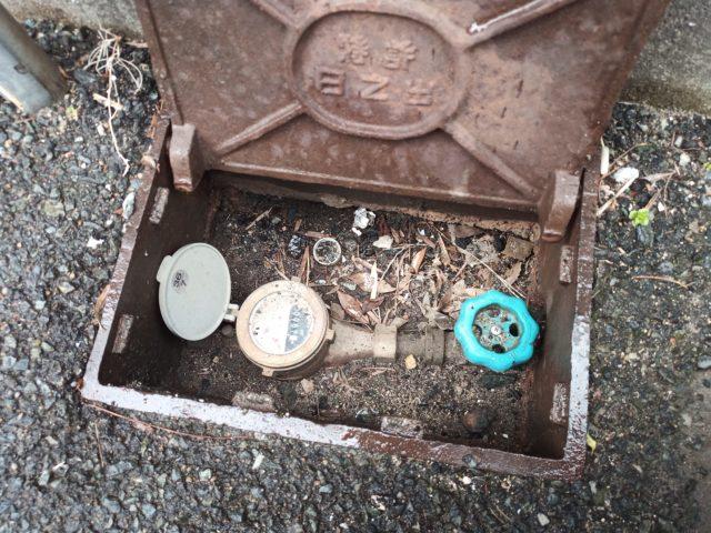 止水栓と量水器